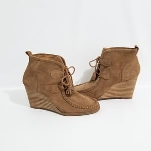 Lucky Brand Suede Tassel Moccasin Booties 7